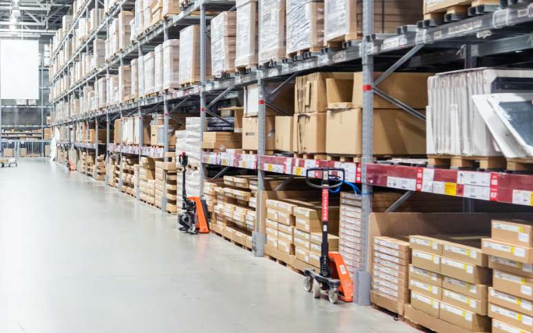 Organized Packages in Distribution Warehouse