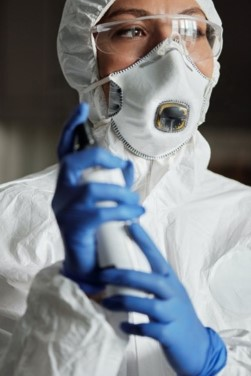 Biohazard Protective Gear Being Worn