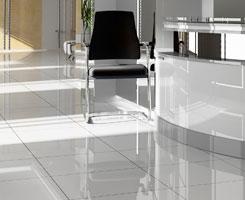 Chair on Large Tile Floors
